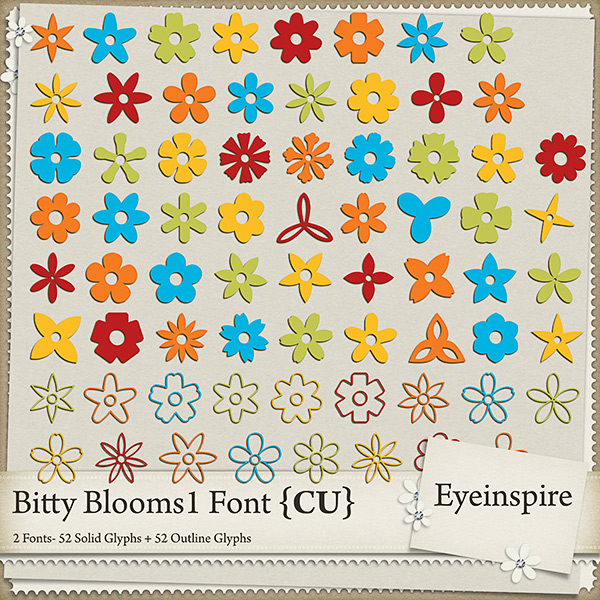 Bitty Blooms 1 Font
