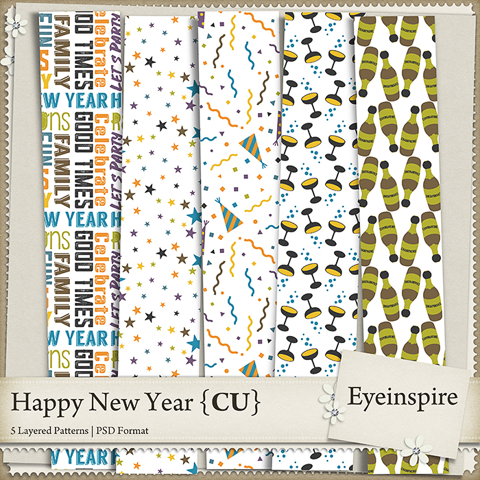 Happy New Year Patterns