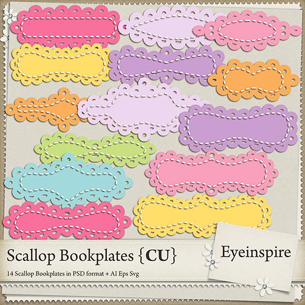 Scalloped Bookplates