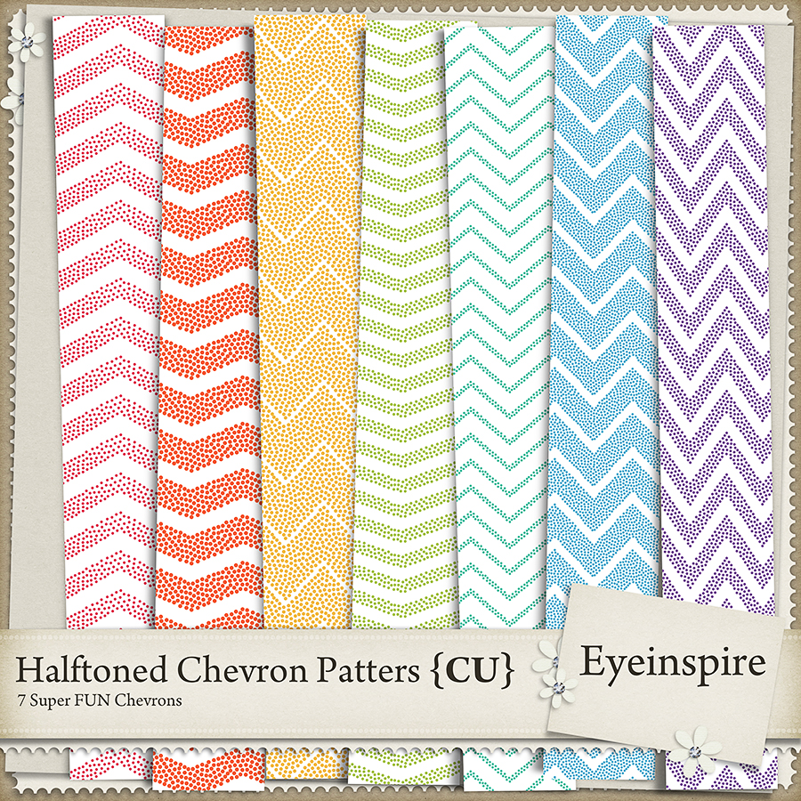 Halftone Chevron Patterns