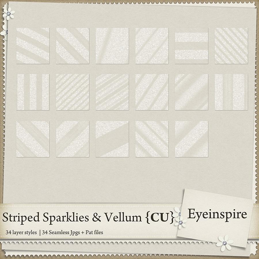 Striped Sparklies & Vellum Styles