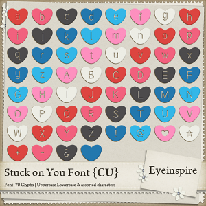 Stuck on You Font
