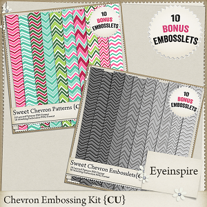 Sweet Chevron Patterns & Embosslets