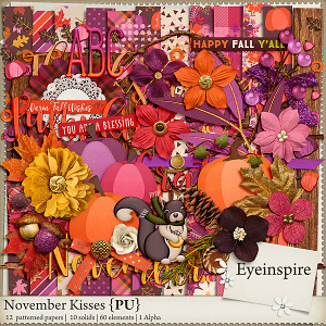 November Kisses Digital Scrapbooking Kit
