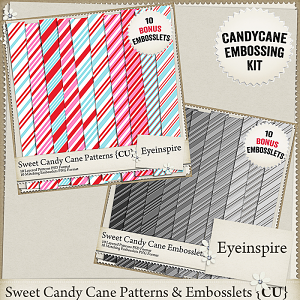 Sweet Candy Cane Patterns & Embosslets