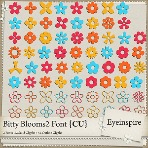 Bitty Blooms 2 Font
