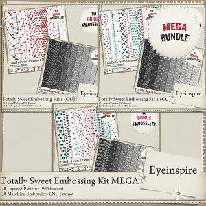 Totally Sweet Embossing Kit Mega