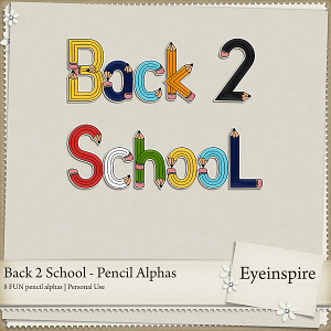 Back 2 School - Pencil Alphas