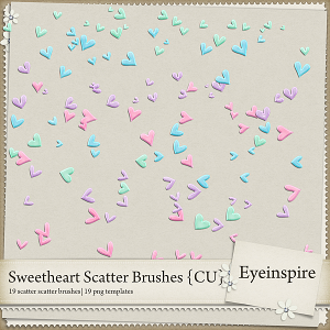 Sweetheart Scatter Brushes