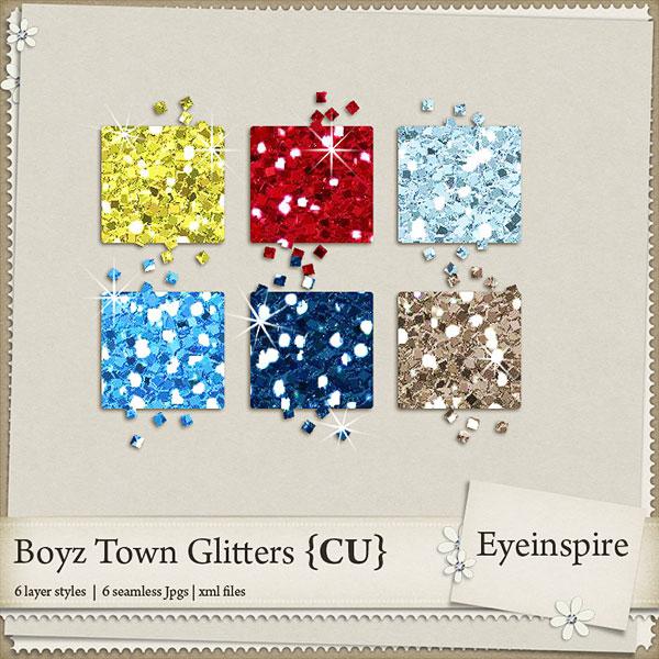 Free digital scrapbook glitters from Eyeinspire