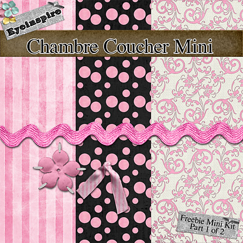 "Free digital scrapbook papers ""Chambre Coucher"" from Eyeinspire"
