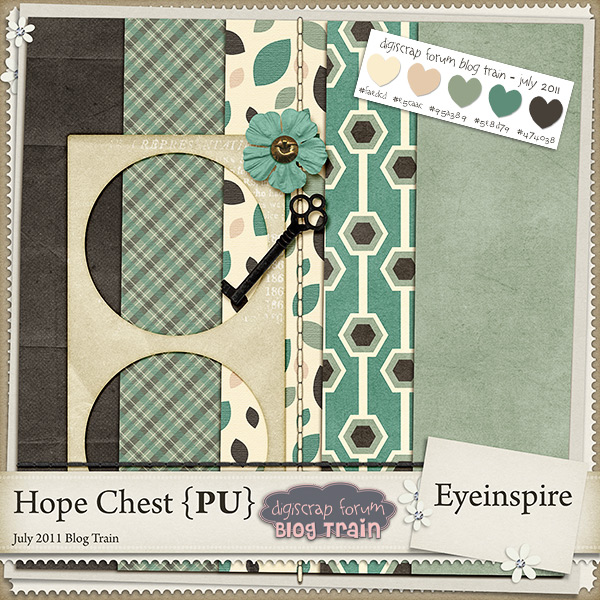 "Free digital scrapbook kit ""Hope Chest"" from Eyeinspire"
