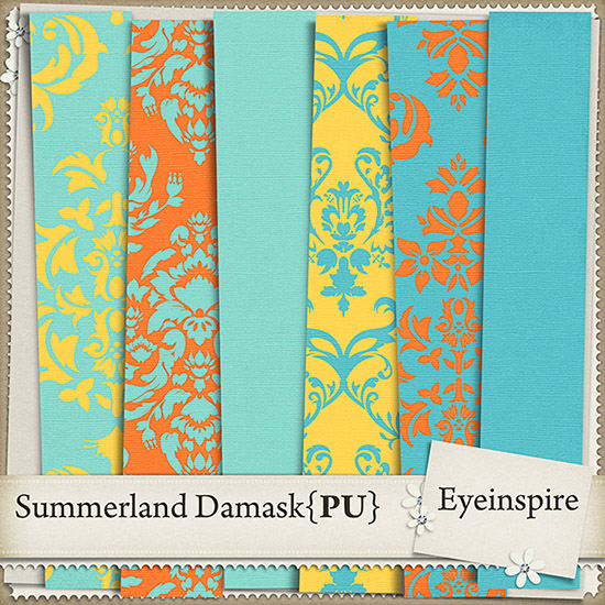Free Summerland Damask Papers from Eyeinspire {PU}