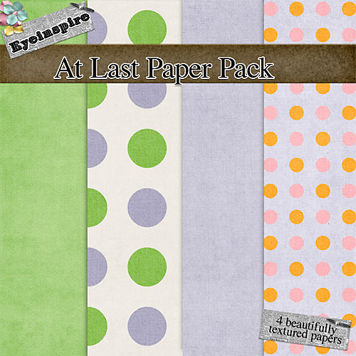 "Free digital scrapbook papers ""At Last"" from Eyeinspire"