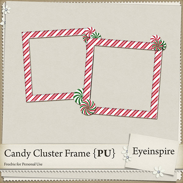 "Free digital scrapbook frame ""Candy"" from Eyeinspire"