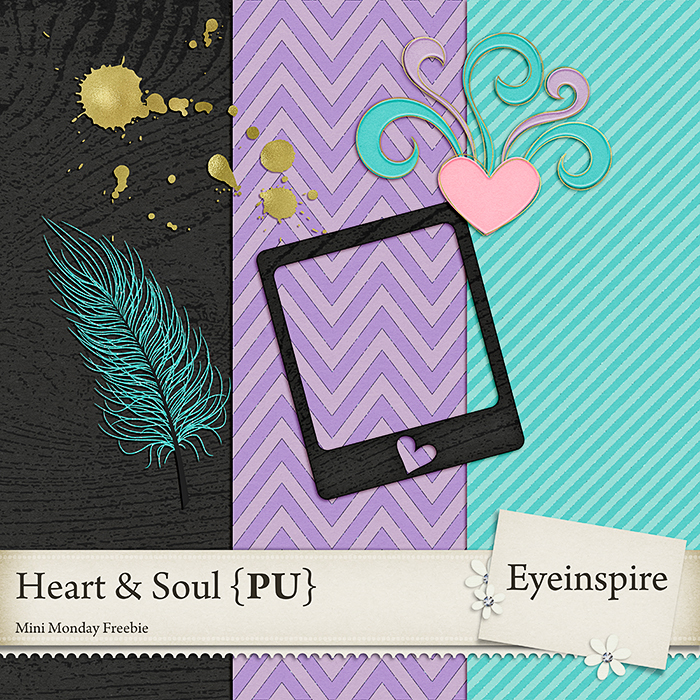 Free scrapbook Heart and Soul by from Eyeinspire {PU}