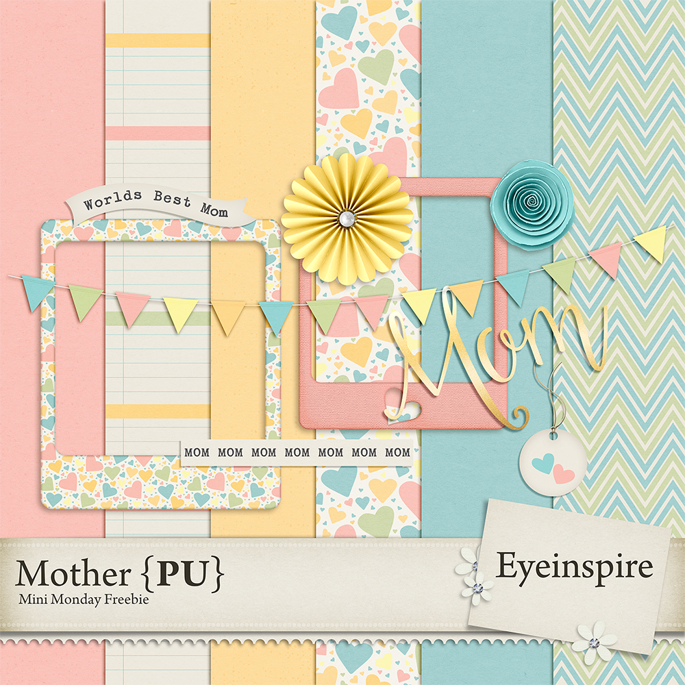 Mother's Day, Freebie, Scrapbooking, digital scrapbook