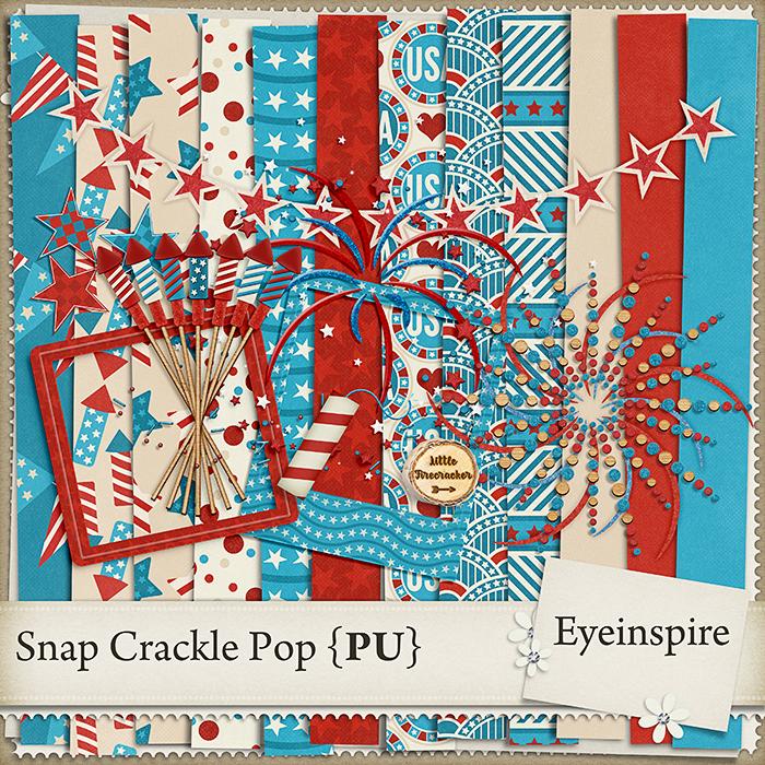Happy 4th Free Digital Scrapbooking Kit Eyeinspire