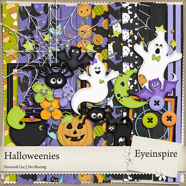 digifree, halloween kit, freebie, free, free kit, free graphics, digital scrapbooking, scrapbook, eyeinspire, ghost, bat, pumpkin, spider, spooky
