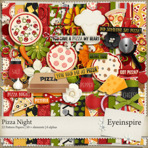 Pizza Night digital scrapbooking kit