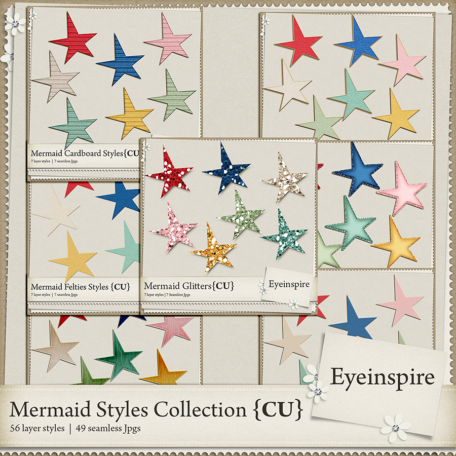 commercial use layer style collection digital scrapbooking
