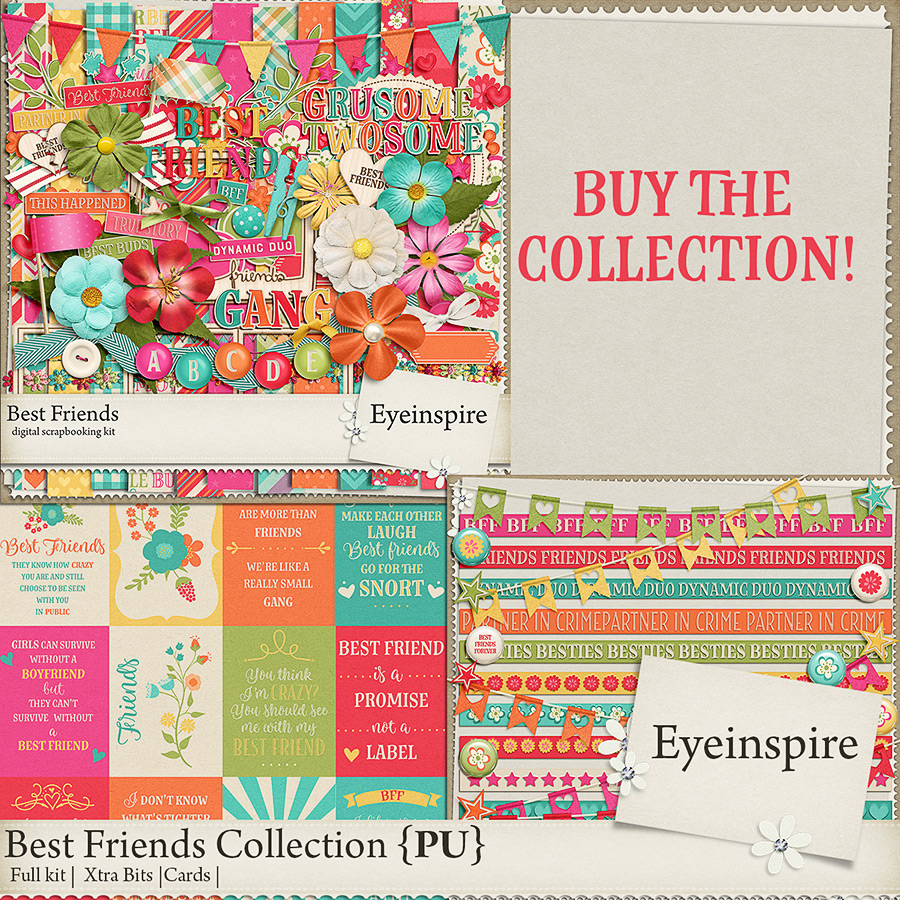 Best Friends Digital Scrapbooking Collection