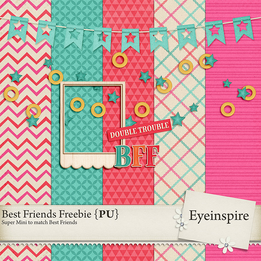 Best Friends Free Digital Scrapbook Kit