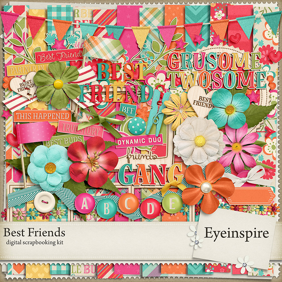 Best Friends Digital Scrapbooking Kit